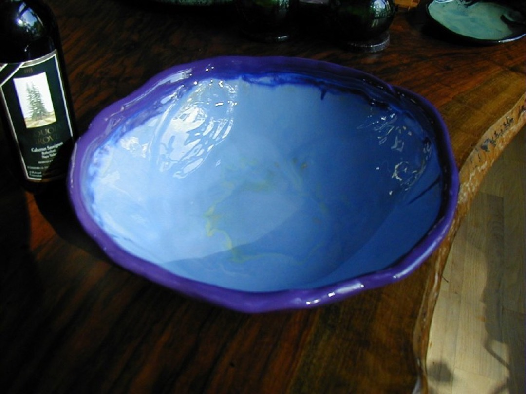 Blue Purple Bowl Large