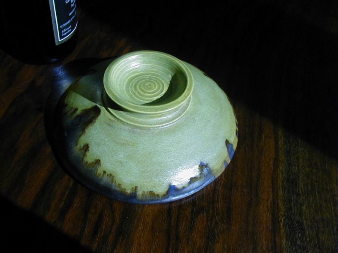 Moss Green Dish-bottom