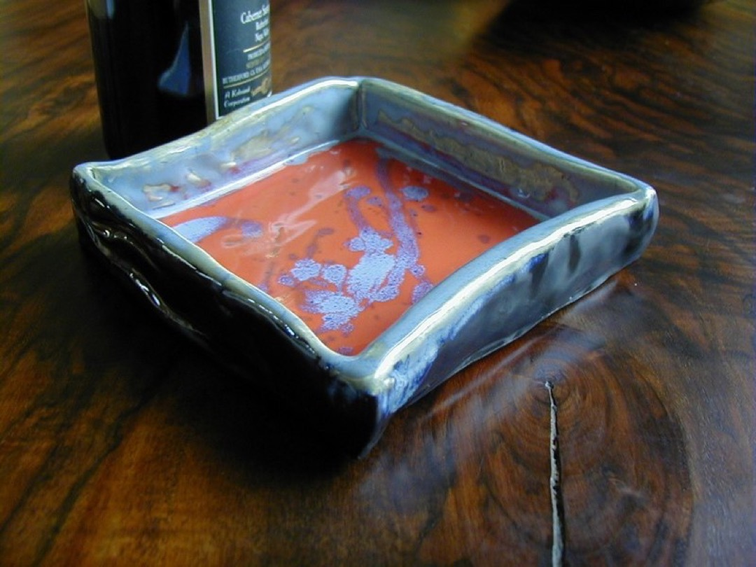 Red Blue Square Tray