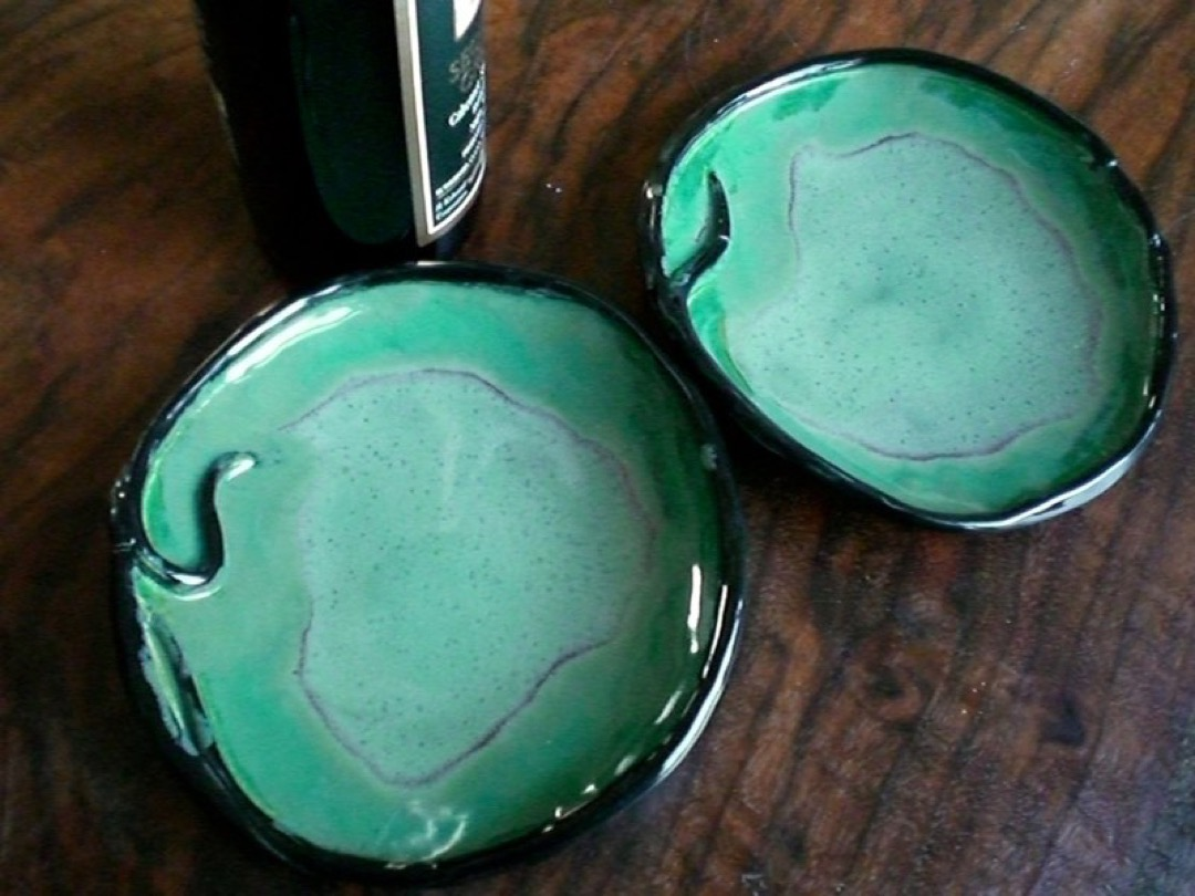 Kiwi and Emerald Plates-medium